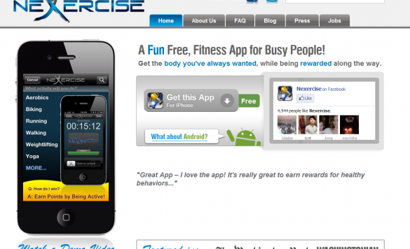 Earn Money While Staying Fit with Nexcercise- an iPhone App