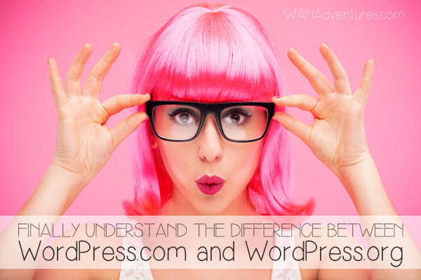 The difference between WordPress.com and WordPress.org.