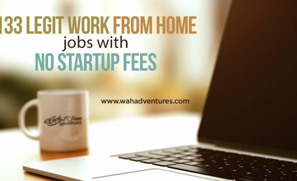 133 Free Work from Home Jobs with No Startup Fees