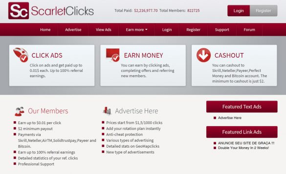 Scarlet Clicks Review: Is This PTC Site Worth Your Time?