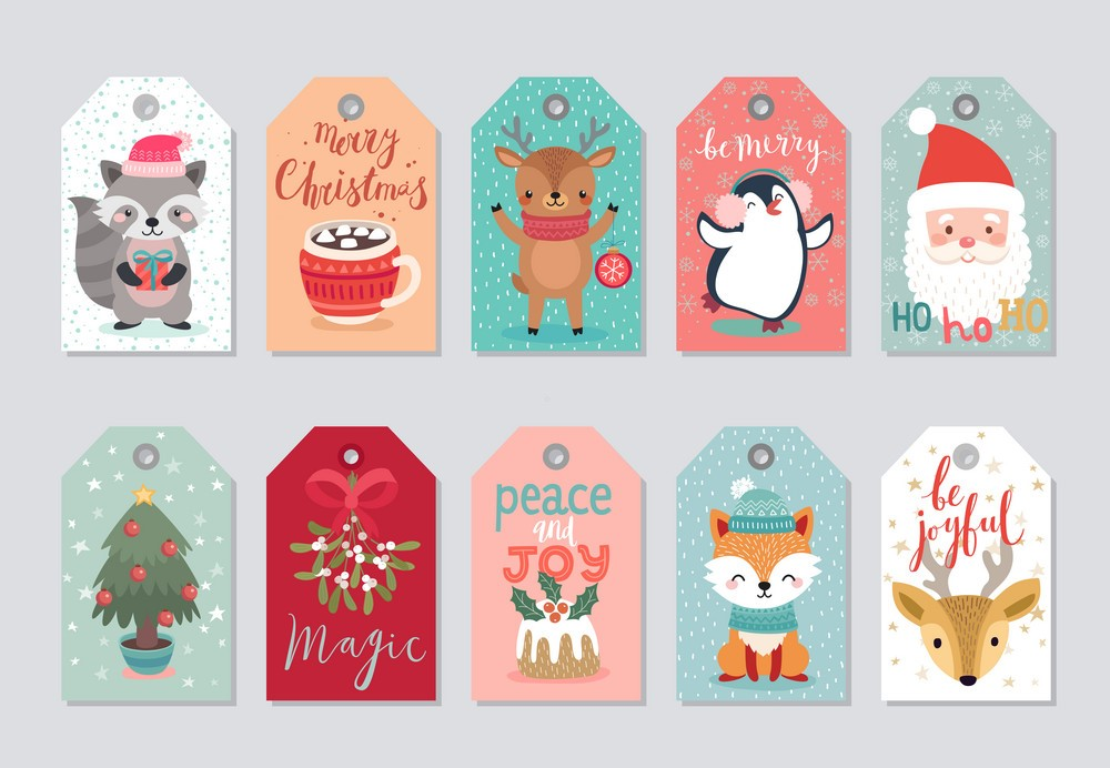 Print these free printable Christmas gift tags conveniently right from your computer and save money on gift wrapping. You can print as many as you want and find just the right design to match your wrapped gifts – all completely free.